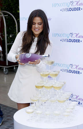 Khloe Kardashian at the HPNOTIQ Harmonie Cocktail Recipe Launch held at the Mr. C Beverly Hills, USA on August 2, 2012.