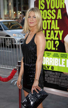 Jennifer Aniston at the Los Angeles premiere of Horrible Bosses held at the Graumans Chinese Theatre in Hollywood on June 30, 2011.