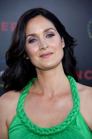 inception: Carrie-Anne Moss at the Los Angeles premiere of Inception held at the Graumans Chinese Theatre in Hollywood on July 13, 2010.