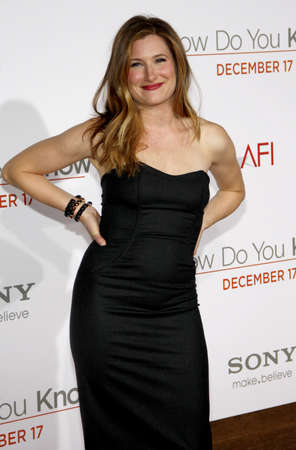 Kathryn Hahn at the Los Angeles premiere of How Do You Know held at the Regency Village Theatre in Westwood on December 13, 2010.