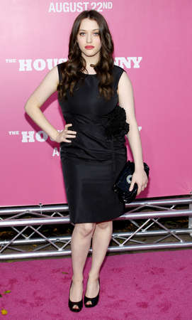 mann: Kat Dennings at the Los Angeles premiere of House Bunny held at the Mann Village Theatre in Westwood on August 20, 2008.