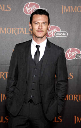 november 3d: Luke Evans at the Los Angeles premiere of Immortals 3D held at the Nokia Theatre L.A. Live in Los Angeles on November 7, 2011.