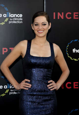 Marion Cotillard at the Los Angeles premiere of Inception held at the Graumans Chinese Theatre in Hollywood on July 13, 2010.