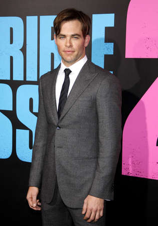 Chris Pine at the Los Angeles premiere of Horrible Bosses 2 held at the TCL Chinese Theatre in Los Angeles on November 20, 2014 in Los Angeles, California.