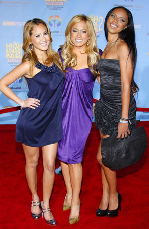Cheetah Girls at the DVD Release Premiere of High School Musical 2: Extended Edition held at the El Capitan Theater in Hollywood, USA on November 19, 2007.