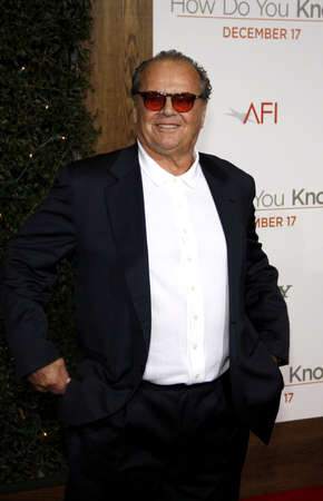 Jack Nicholson at the Los Angeles premiere of How Do You Know held at the Regency Village Theater in Westwood on December 13, 2010.