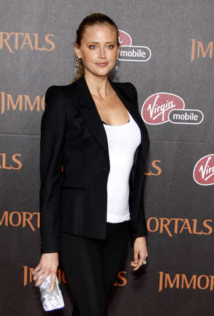 warren: Estella Warren at the Los Angeles premiere of Immortals 3D held at the Nokia Theater L.A. Live in Los Angeles on November 7, 2011. Editorial