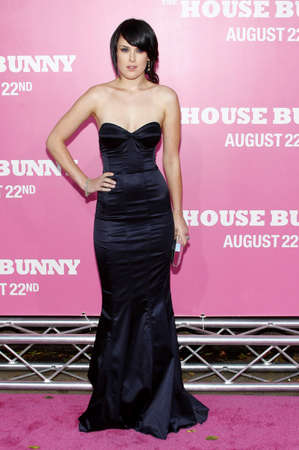 willis: Rumer Willis at the Los Angeles premiere of House Bunny held at the Mann Village Theater in Westwood on August 20, 2008. Editorial
