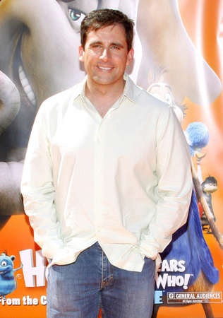 steve: Steve Carell at the World Premiere of Horton Hears a Who! held at the Westwood Village Theater in Westwood, USA on March 8, 2008.