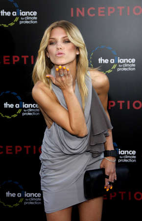AnnaLynne McCord at the Los Angeles premiere of Inception held at the Graumans Chinese Theater in Hollywood on July 13, 2010.