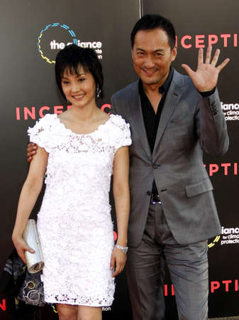 inception: Kaho Minami and Ken Watanabe at the Los Angeles premiere of Inception held at the Graumans Chinese Theater in Hollywood on July 13, 2010.