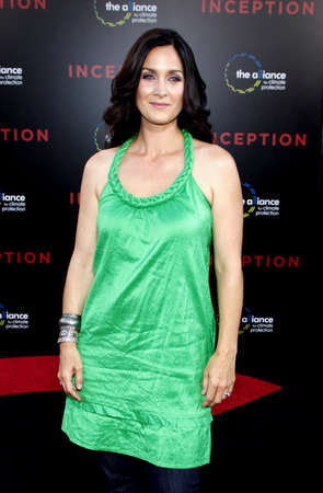 inception: Carrie-Anne Moss at the Los Angeles premiere of Inception held at the Graumans Chinese Theater in Hollywood on July 13, 2010. Editorial