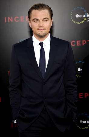 inception: Leonardo DiCaprio at the Los Angeles premiere of Inception held at the Graumans Chinese Theater in Hollywood on July 13, 2010.