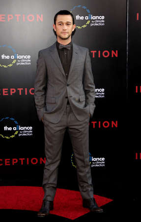 inception: Joseph Gordon-Levitt at the Los Angeles premiere of Inception held at the Graumans Chinese Theater in Hollywood on July 13, 2010.