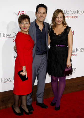 Paul Rudd and Julie Yaeger at the Los Angeles premiere of How Do You Know held at the Regency Village Theatre in Westwood on December 13, 2010.