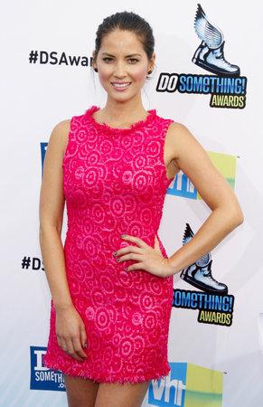 barker: Olivia Munn at the 2012 Do Something Awards held at the Barker Hangar in Santa Monica on August 19, 2012.
