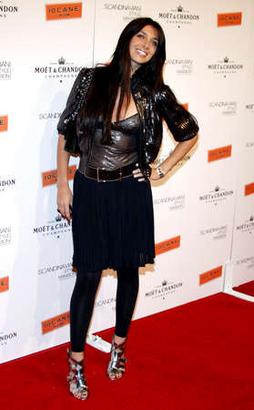 private party: Brittny Gastineau attends the Scandinavian Style Mansion Party held at the Private Residence in Bel Air, California, United States on December 1, 2007.