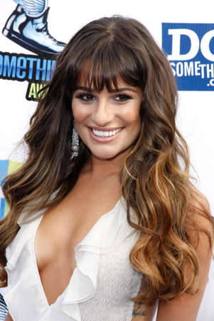 lea: Lea Michele at the 2012 Do Something Awards held at the Barker Hangar in Santa Monica on August 19, 2012. Editorial