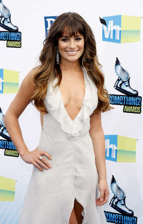 barker: Lea Michele at the 2012 Do Something Awards held at the Barker Hangar in Santa Monica on August 19, 2012. Editorial