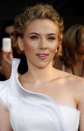 Scarlett Johansson at the Los Angeles premiere of Iron Man 2 held at the El Capitan Theater in Hollywood on April 26, 2010. Editorial