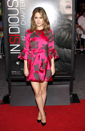 insidious: Rose Byrne at the Los Angeles premiere of Insidious: Chapter 2 held at the Universal CityWalk in Hollywood, USA on September 10, 2013