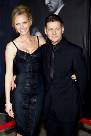 roberts: Andrew Niccol and Rachel Roberts at the Los Angeles premiere of In Time held at the Regency Village Theater in Westwood on October 20, 2011.