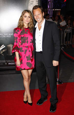 insidious: Rose Byrne and Patrick Wilson at the Los Angeles premiere of Insidious: Chapter 2 held at the Universal CityWalk in Hollywood, USA on September 10, 2013.