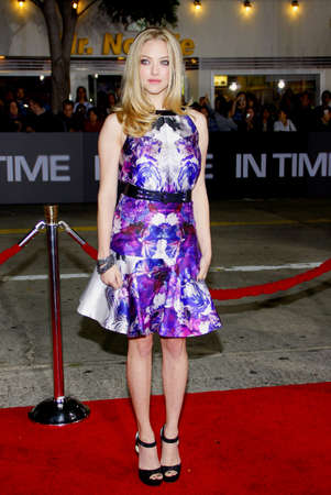 amanda: Amanda Seyfried at the Los Angeles premiere of In Time held at the Regency Village Theater in Westwood on October 20, 2011.