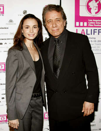 affliction: Mia Maestro and Edward James Olmos at the LALIFF Screening of Chagas: A Hidden Affliction held at the Egyptian Arena Theatre in Hollywood, USA on October 7, 2006.
