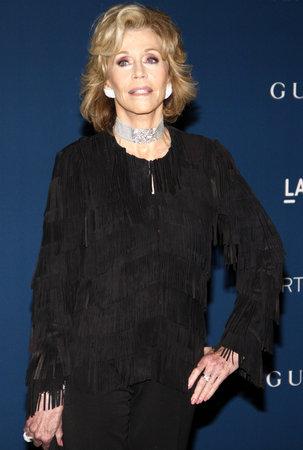 jane: Jane Fonda at the LACMA 2013 Art + Film Gala Honoring Martin Scorsese And David Hockney held at the LACMA in Los Angeles, USA on November 2, 2013. Editorial