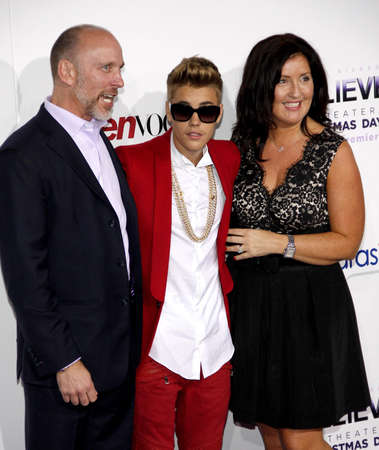 "Justin Bieber at the World premiere of ""Justin Bieber's Believe"" held at the Regal Cinemas L.A. Live in Los Angeles, USA on December 18, 2013."