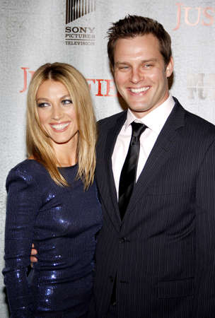 justified: HOLLYWOOD, CA - MARCH 08, 2010: Travis Schuldt and Natalie Zea at the premiere screening of FXs Justified held at the DGA Theater in Hollywood, USA on March 8, 2010.