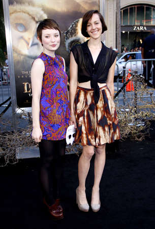 malone: Emily Browning and Jena Malone at the Los Angeles premiere of Legends of the Guardians: The Owls of GaHoole held at the Graumans Chinese Theater in Hollywood, USA on September 19, 2010.