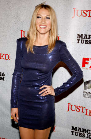 justified: HOLLYWOOD, CA - MARCH 08, 2010: Natalie Zea at the premiere screening of FXs Justified held at the DGA Theater in Hollywood, USA on March 8, 2010.