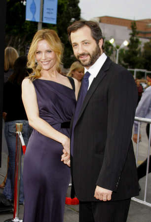 mann: Leslie Mann and Judd Apatow at the Los Angeles Premiere of Knocked Up held at the Mann Village Theatre in Westwood, USA on May 21, 2007.