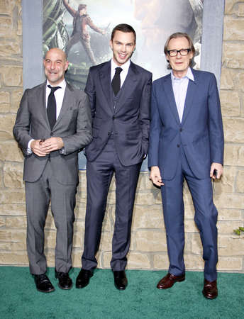 slayer: Stanley Tucci, Nicholas Hoult and Bill Nighy at the Los Angeles premiere of Jack The Giant Slayer held at the TCL Chinese Theater in Hollywood, USA on February 26, 2013.
