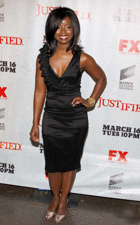 justified: HOLLYWOOD, CA - MARCH 08, 2010: Erica Tazel at the premiere screening of FXs Justified held at the DGA Theater in Hollywood, USA on March 8, 2010. Editorial