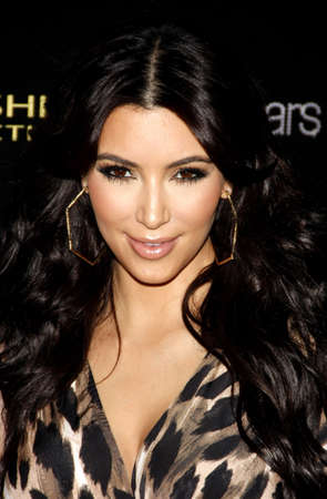 HOLLYWOOD, CA - AUGUST 17, 2011: Kim Kardashian at the Kardashian Kollection Launch Party held at the Colony in Hollywood, USA on August 17, 2011. Editorial