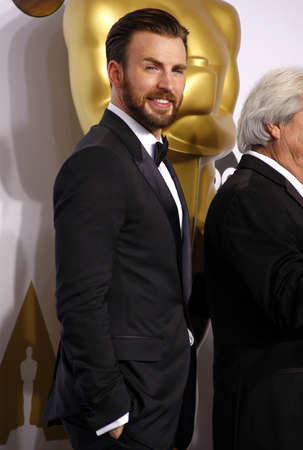 evans: Chris Evans at the 87th Annual Academy Awards - Press Room held at the Loews Hollywood Hotel in Hollywood, USA on February 22, 2015. Editorial