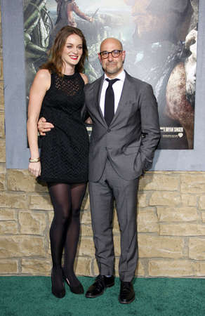 felicity: Stanley Tucci and Felicity Blunt at the Los Angeles premiere of Jack The Giant Slayer held at the TCL Chinese Theater in Hollywood, USA on February 26, 2013.