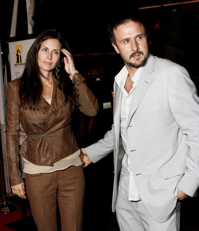 HOLLYWOOD, CA - OCTOBER 18, 2005: Courteney Cox and David Arquette at the Los Angeles premiere of Kiss Kiss, Bang Bang held at the Graumans Chinese Theater in Hollywood, USA on October 18, 2005. Editorial