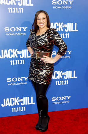 jill: Melanie Amaro at the Los Angeles premiere of Jack And Jill held at the Regency Village Theater in Westwood on November 6, 2011.