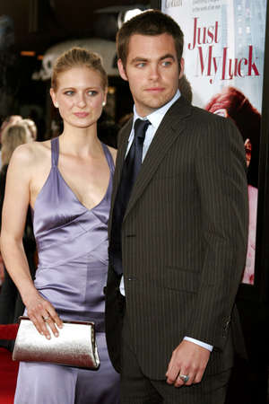Chris Pine and Sorel Carradine at the Los Angeles Premiere of Just My Luck held at the National Theatre in Westwood, USA on May 9, 2006.