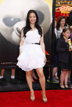 lucy: Lucy Liu at the Los Angeles premiere of Kung Fu Panda 2 held at the Graumans Chinese Theater in Hollywood, USA on May 22, 2011.