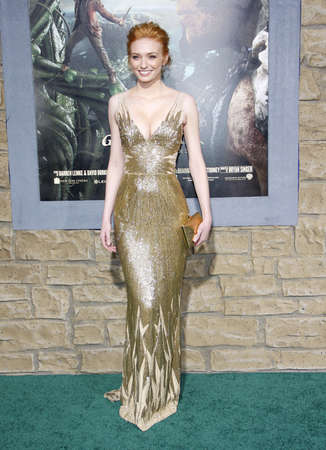 slayer: Eleanor Tomlinson at the Los Angeles premiere of Jack The Giant Slayer held at the TCL Chinese Theater in Hollywood, USA on February 26, 2013.