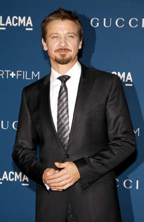 honoring: Jeremy Renner at the LACMA 2013 Art + Film Gala Honoring Martin Scorsese And David Hockney held at the LACMA in Los Angeles, USA on November 2, 2013. Editorial