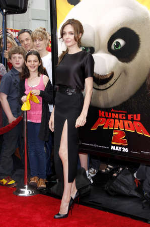 angelina jolie: Angelina Jolie at the Los Angeles premiere of Kung Fu Panda 2 held at the Graumans Chinese Theater in Hollywood, USA on May 22, 2011.