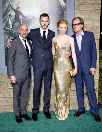 Stanley Tucci, Nicholas Hoult, Eleanor Tomlinson and Bill Nighy at the Los Angeles premiere of Jack The Giant Slayer held at the TCL Chinese Theater in Hollywood, USA on February 26, 2013.