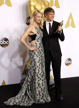 watts: Naomi Watts and Tom Cross at the 87th Annual Academy Awards - Press Room held at the Loews Hollywood Hotel in Hollywood, USA on February 22, 2015.