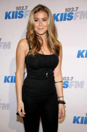 Alexa Vega at the KIIS FMs Jingle Ball 2012 held at the Nokia Theater LA Live in Los Angeles on December 1, 2012. Editorial